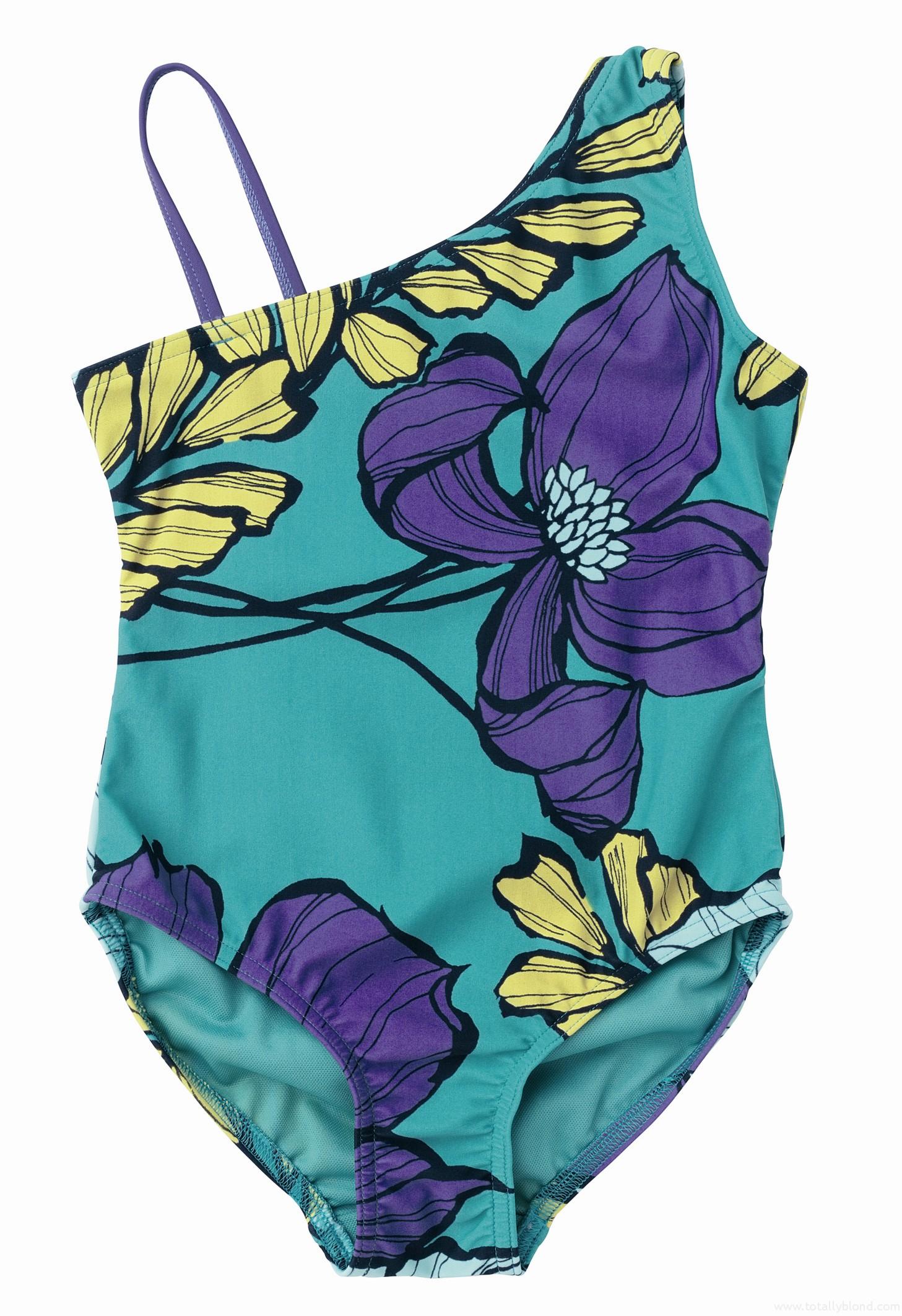 Turquiose_floral_print_swim_suit