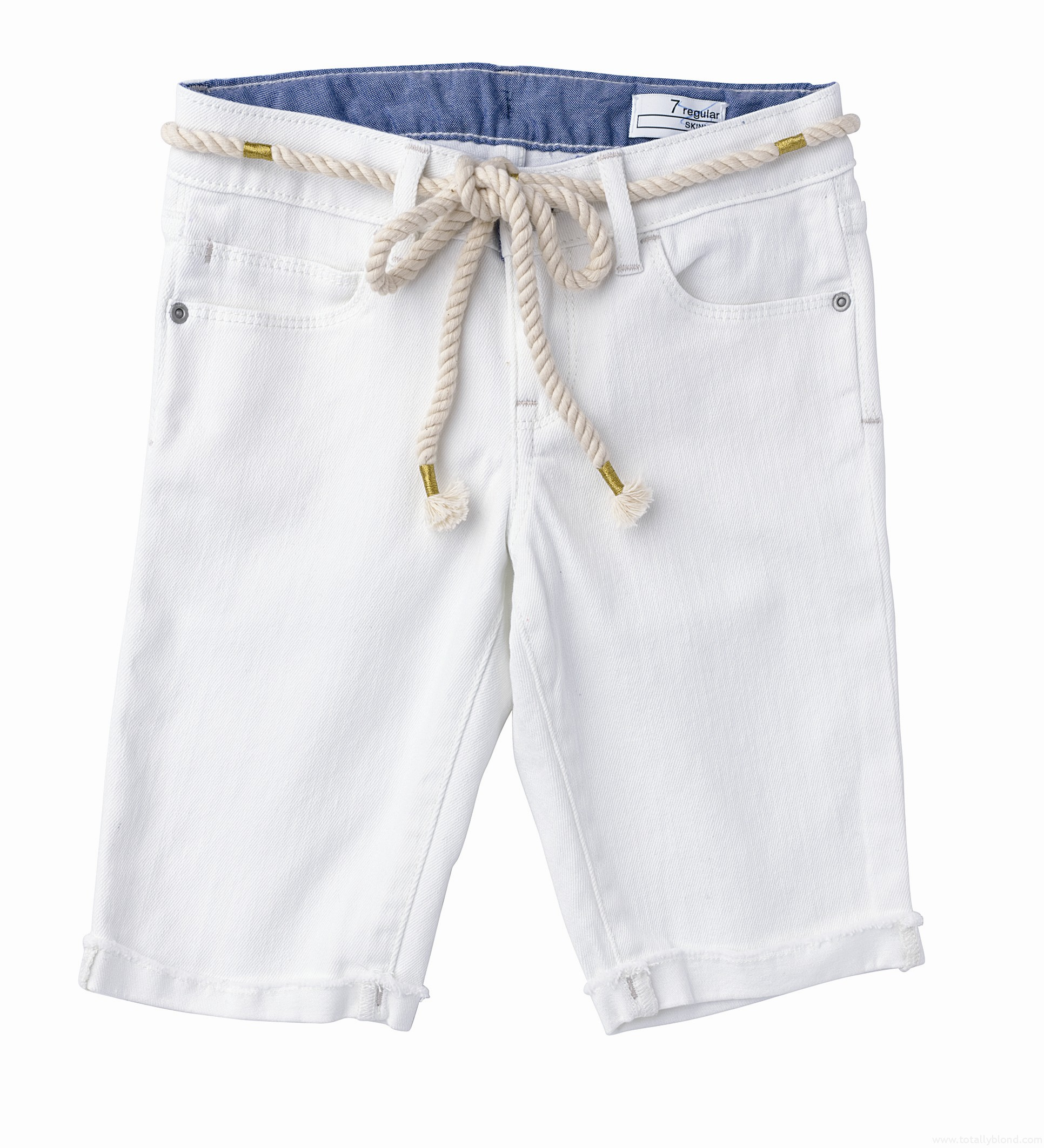 White_denim_nautical_shorts