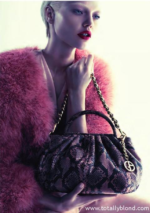 Гламурная дива Саша Пивоварова в рекламной кампании Giorgio Armani Wildberries Style Magazine