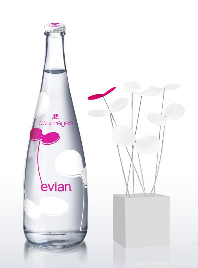 Evian_Bottle_Courreges_Flower