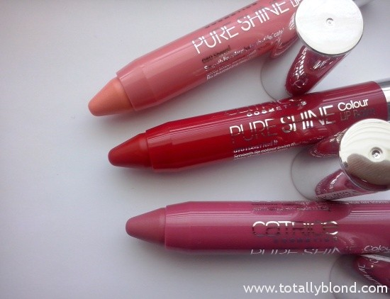 Catrice Pure Shine Colour Lip Balm 030 Don't Think Just Pink, 070 I Don't Red It, 080 Sheers!
