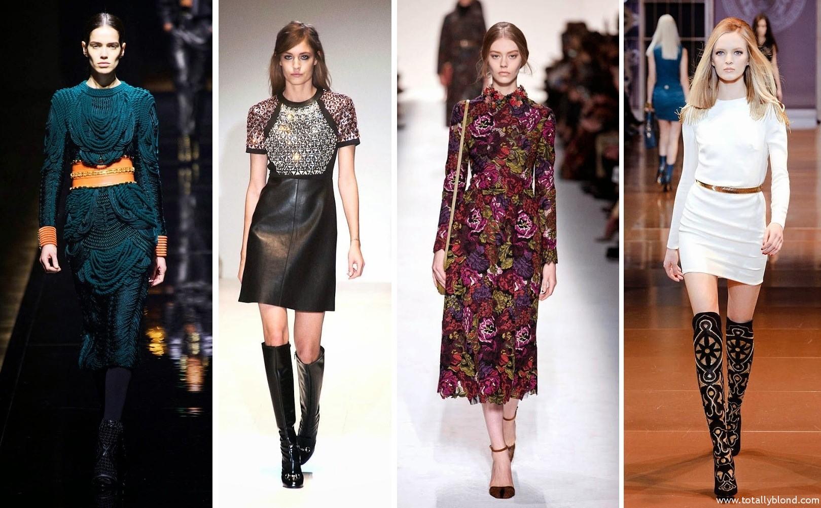 Платье зима 2017 модные тенденции